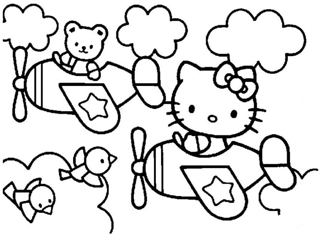 1024x768 Cartoon Coloring Pages