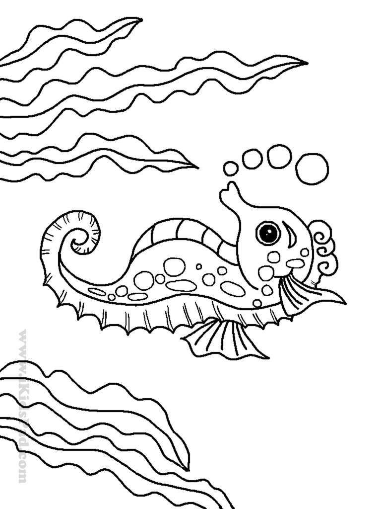 768x1024 Cool The Cartoon Sea Animals Coloring Pages Are So Fun For Kids