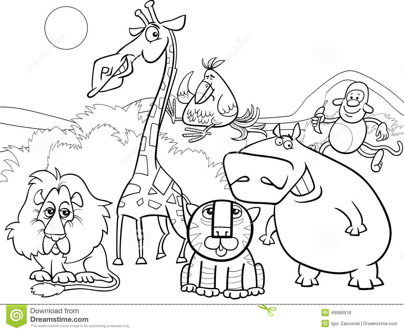 1300x1069 Download Coloring Pages Wild Animal At Studynow Me For Qqa