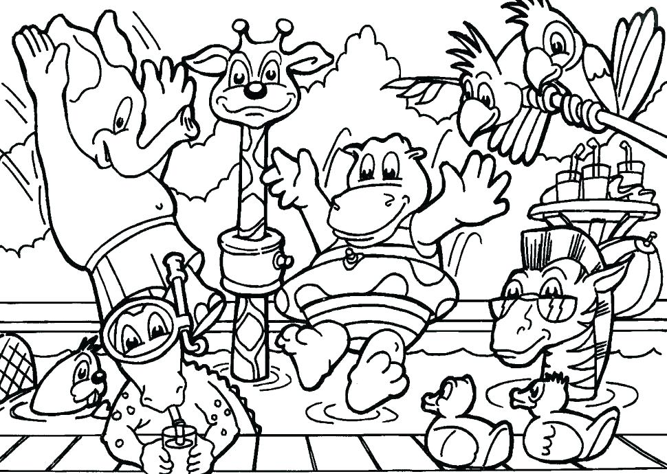970x690 Free Printable Cartoon Zoo Animals Printable Zoo Animal Coloring