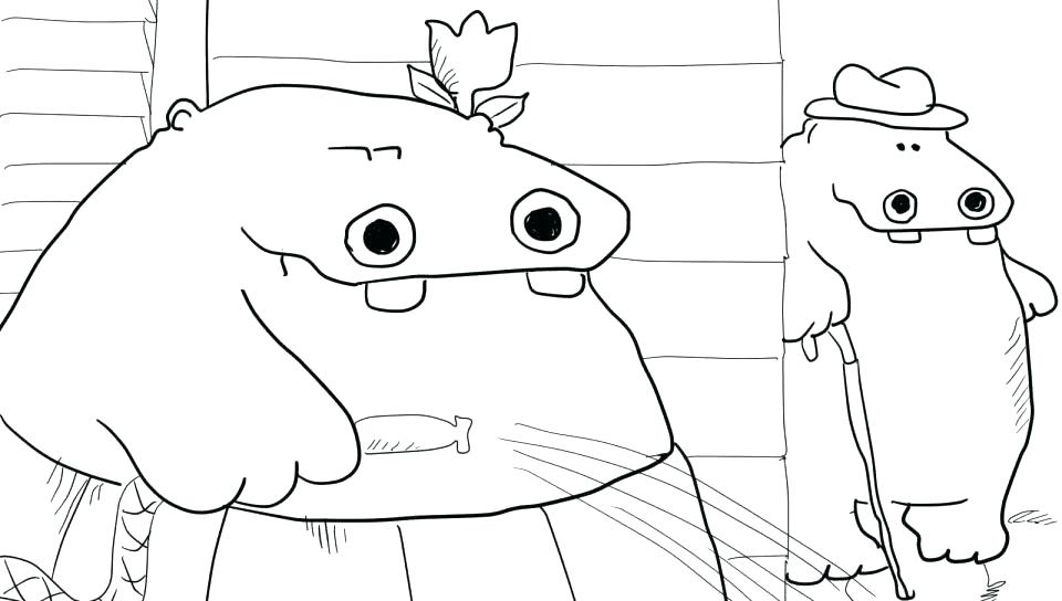 960x544 Baby Hippo Coloring Pages Hippopotamus Coloring Pages Baby Hippo
