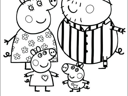 440x330 Peppa Pig Coloring Pages Pig Cartoon Free Color Pages For Kids