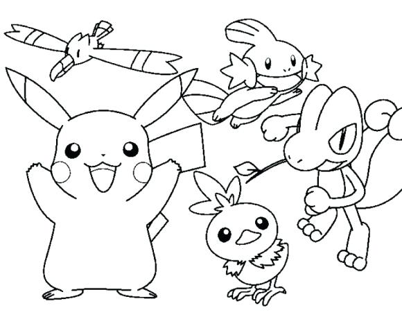 580x470 Pikachu Coloring Pages Pdf Cartoon Coloring Pages Coloring Sheet