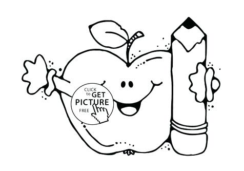 476x333 Welcome Back To School Coloring Sheets Cartoon Coloring Medium