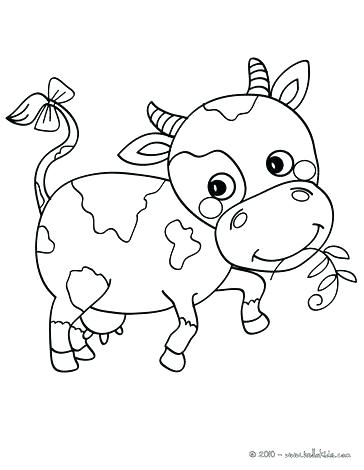 364x470 Cartoon Cow Coloring Pages