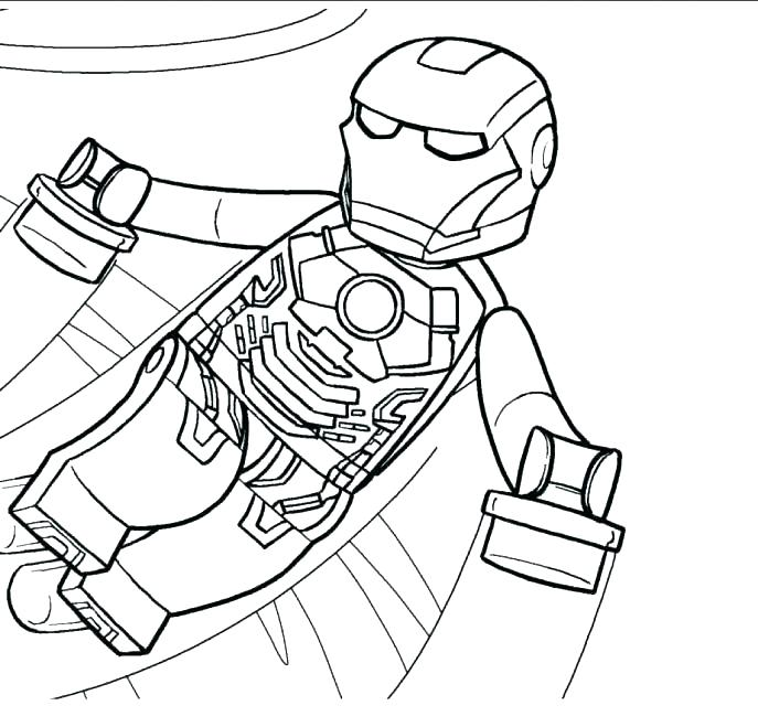 687x659 Ironman Coloring Pages