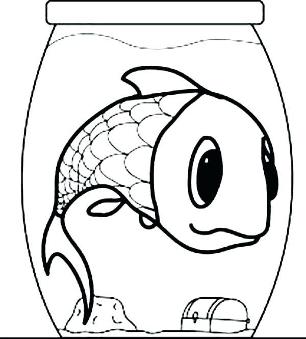 600x665 Cartoon Fish Coloring Pages Cartoon Fish Coloring Pages Cartoon