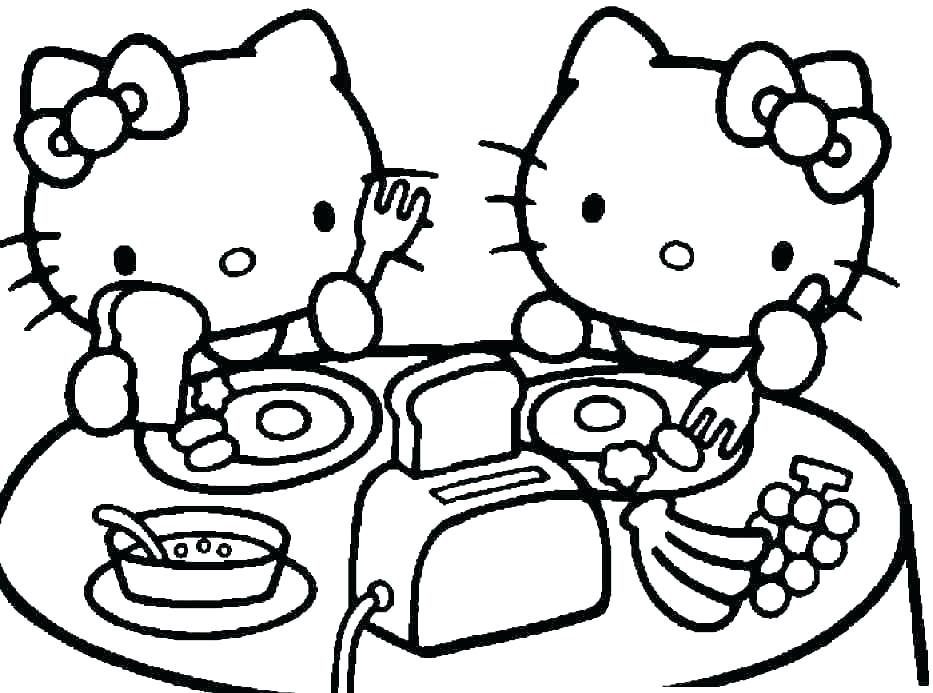 933x693 Cartoon Cat Coloring Pages