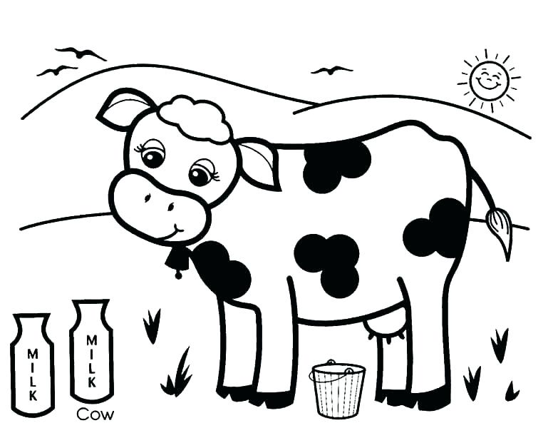 769x600 Cow Coloring Page Cow Cute Cow Coloring Page Coloring Pages