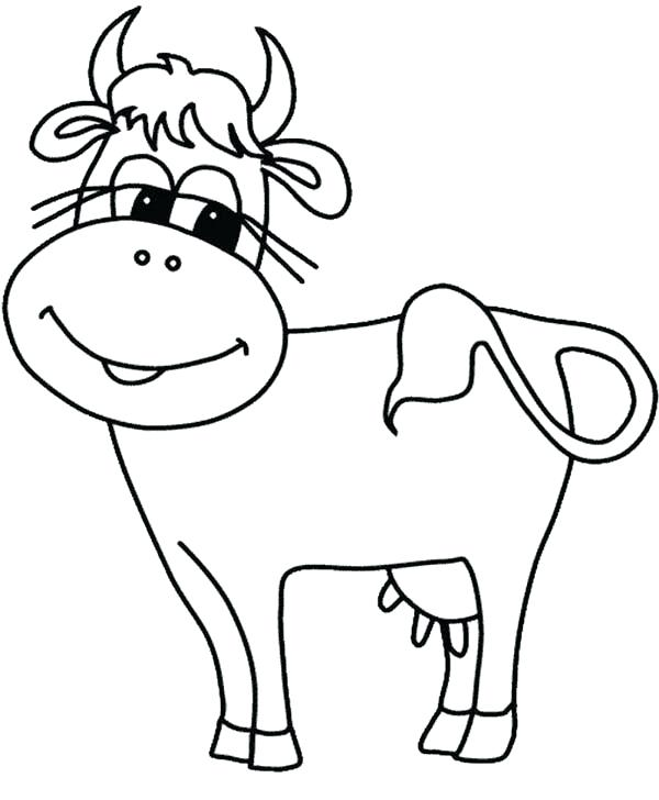 600x728 Cow Coloring Pages Cartoon Cow Coloring Pages Coloring Pages