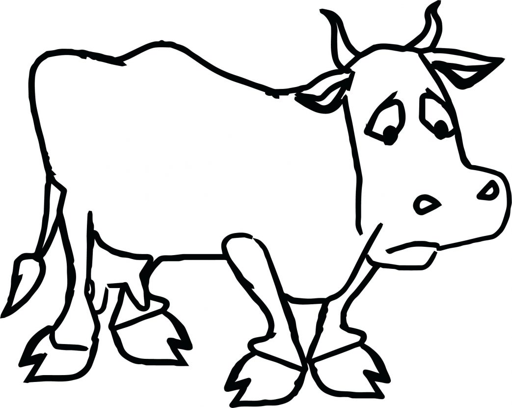 1043x830 Dairy Cow Farm Coloring Pages Adult Animal Realistic Animals Color