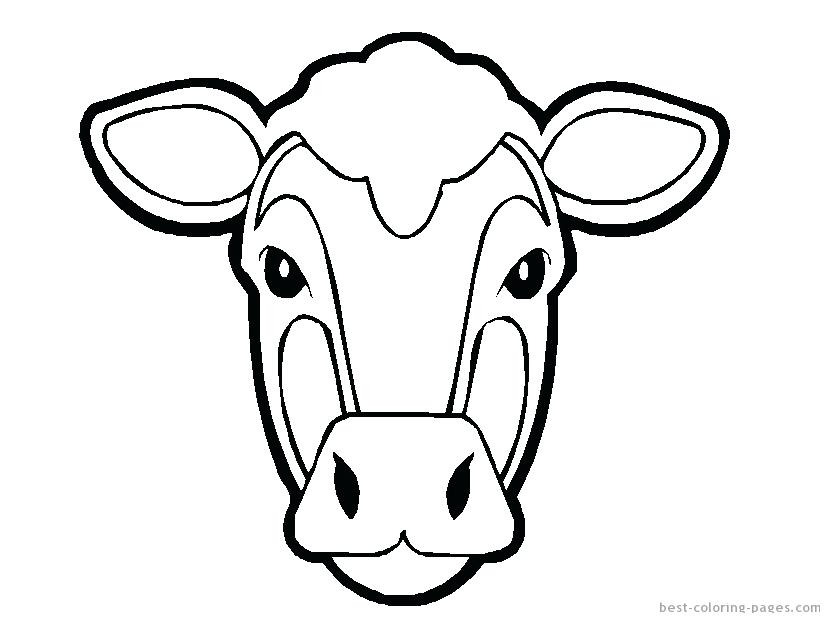 830x623 Inspiring Cows Coloring Pages Face Coloring Pages Cow