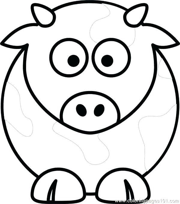 600x679 Coloring Page Cow Cartoon Of Smiling Cow Colouring Page Coloring
