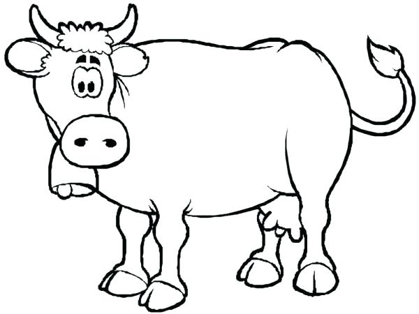 600x450 Coloring Pagescow Cartoon Cow Coloring Pages Cow Coloring Page