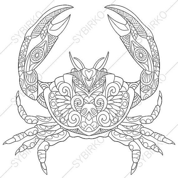 Cartoon Crab Coloring Pages
