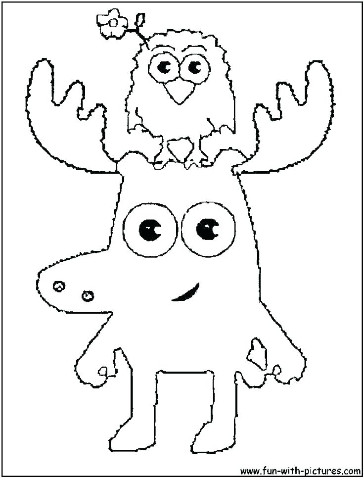 Cartoon Deer Coloring Pages