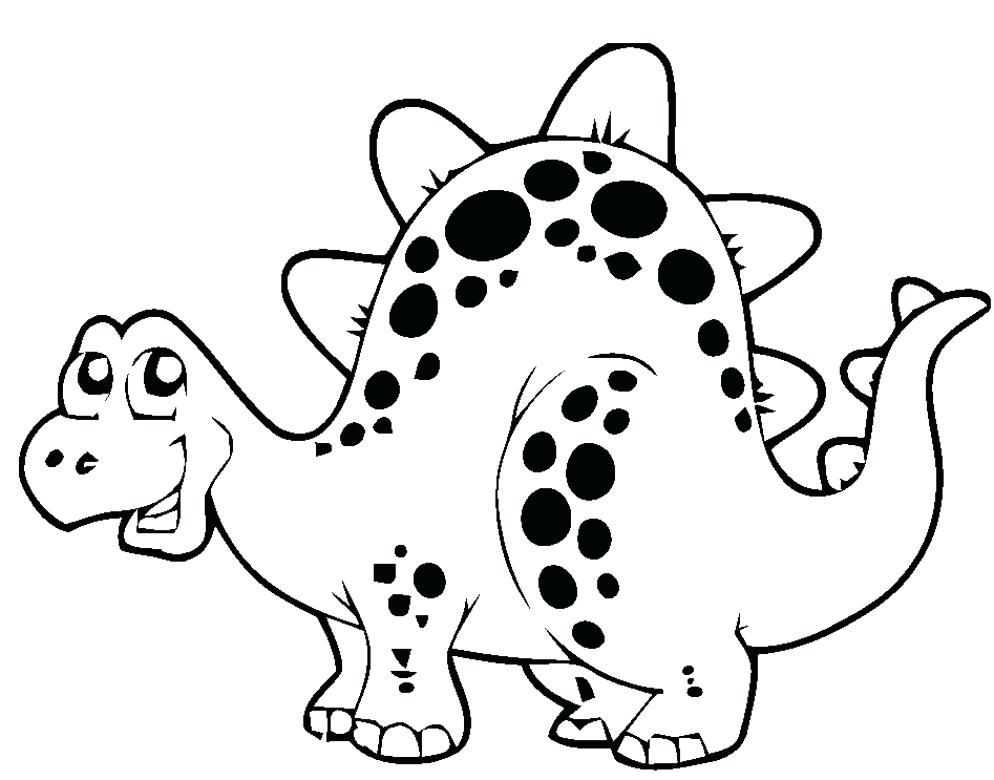 994x780 Simple Dinosaur Coloring Pages Coloring Pages Luxury Printable