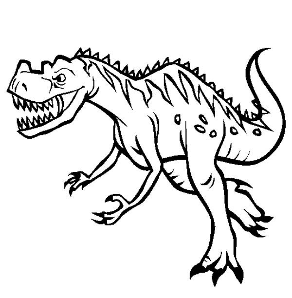 600x612 Triceratops Coloring Page Awesome Cartoon Dinosaur Coloring Pages