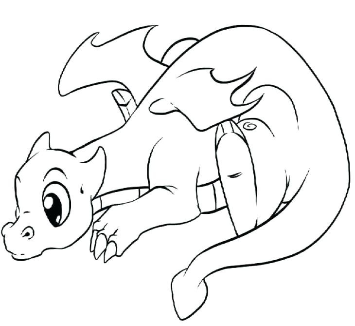 730x669 Cute Cartoon Coloring Pages Cartoon Dragon Coloring Pages Pin