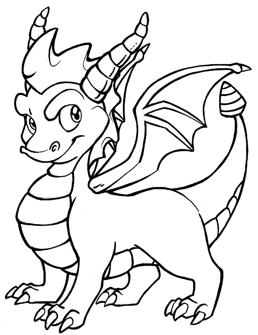 900x1170 Dragon Coloring Pages Spyro Of Cartoon Dragons