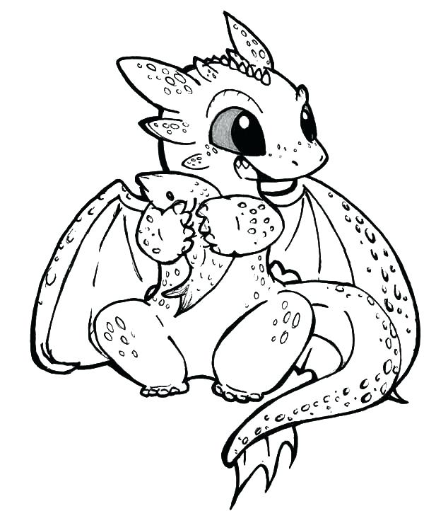 600x722 New Cartoon Dragon Coloring Pages For Baby Dragon Coloring Pages
