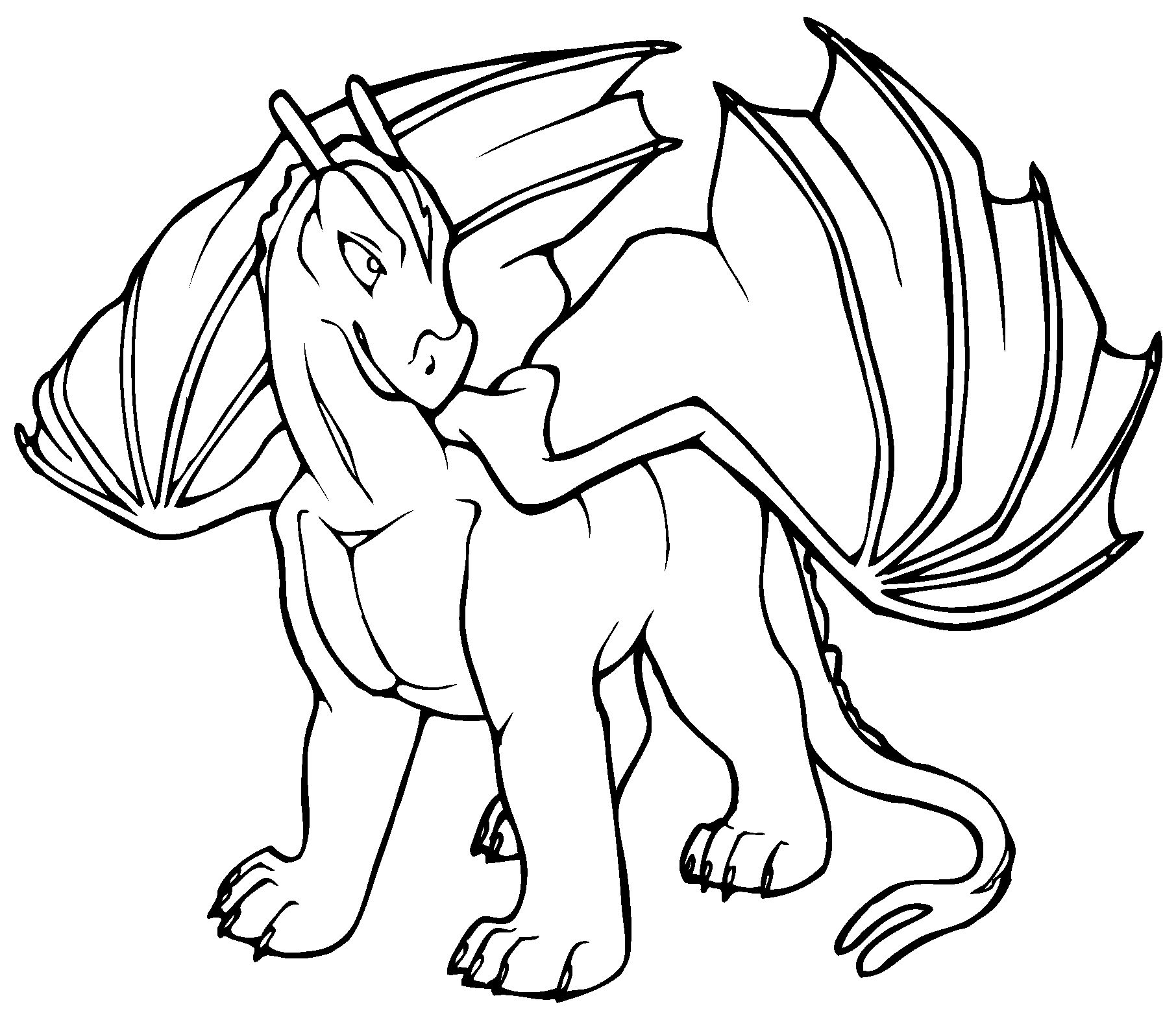 1812x1573 Cartoon Dragon Coloring Pages On Coloring Page Dragon Coloring