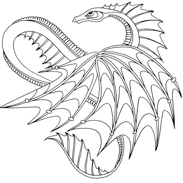 600x600 Dragon Coloring Pages Free