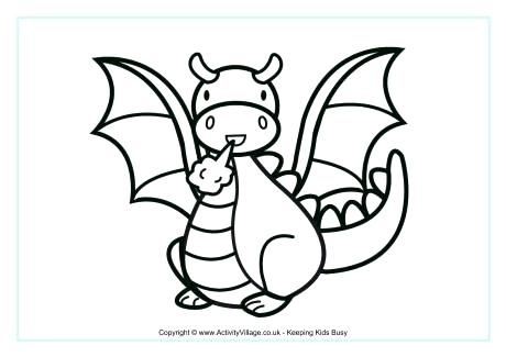 460x325 Cartoon Dragon Coloring Pages And Dragon Colouring Page