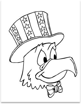 317x408 Patriotic Eagle Coloring Pages