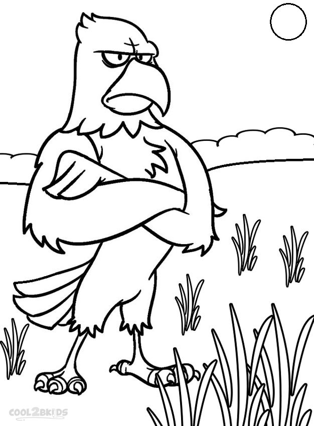 626x850 Printable Bald Eagle Coloring Pages For Kids