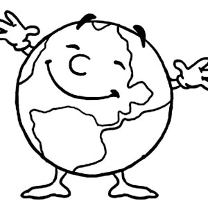 Cartoon Earth Coloring Pages At Getdrawings Com Free For Personal