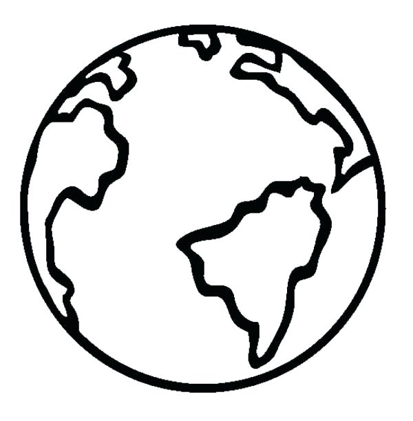 600x612 Coloring Page Earth Planet Earth Coloring Pages Planet Earth