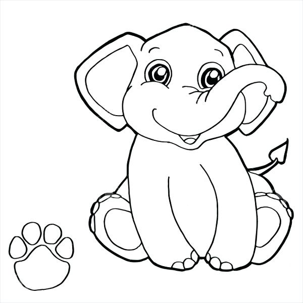 Cartoon Elephant Coloring Pages