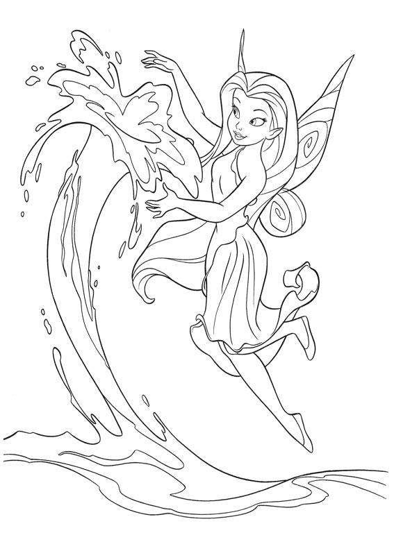 Cartoon Fairies Coloring Pages