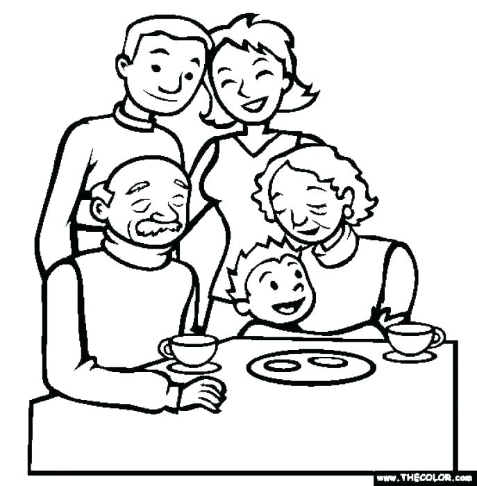 687x700 Family Coloring Page Best And Family Coloring Page Images Pages