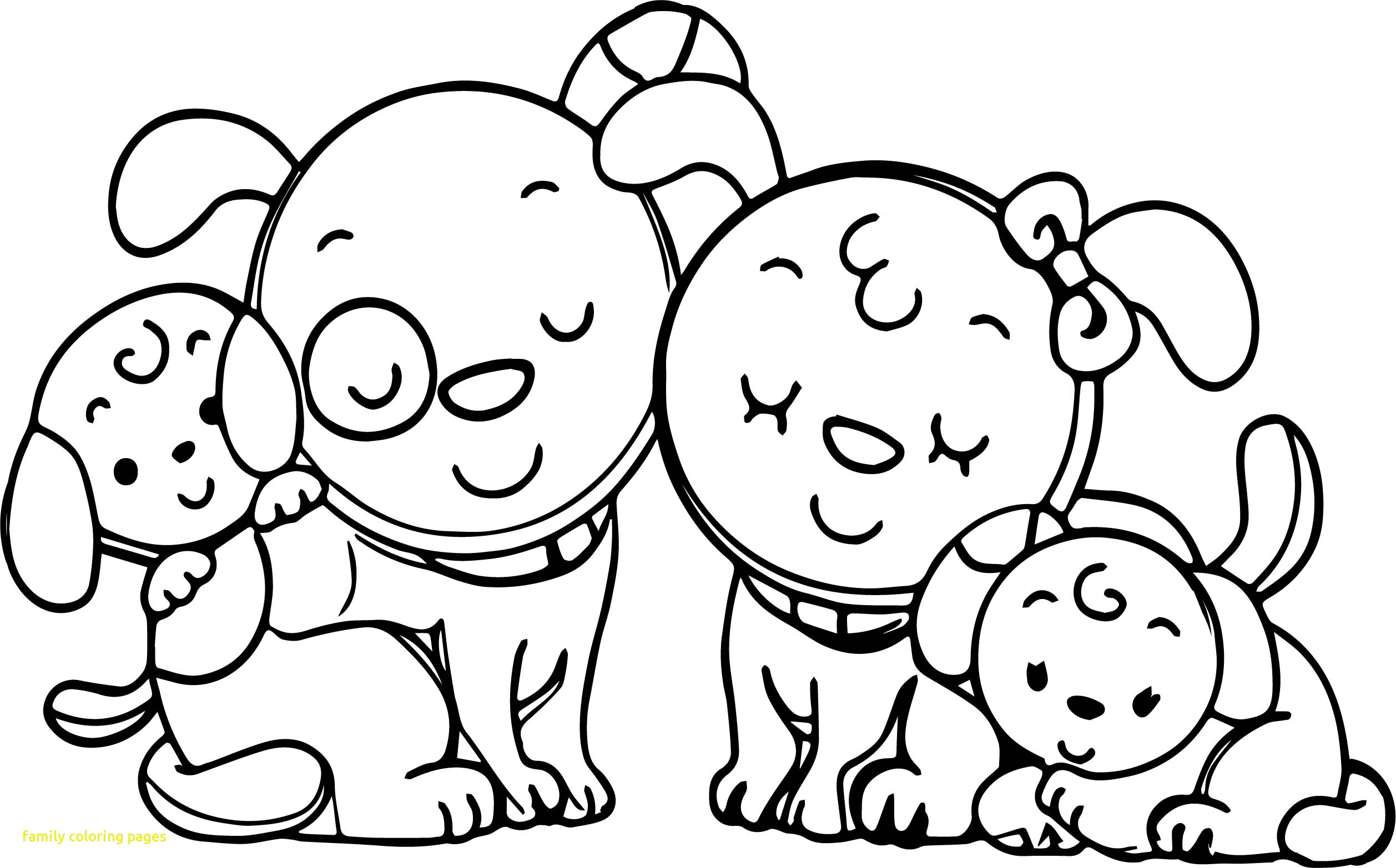 2515x1565 Family Coloring Pages With Animal Dog Page New