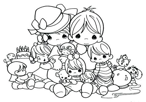 476x333 Holy Family Coloring Pages Precious Moments Cartoons Family