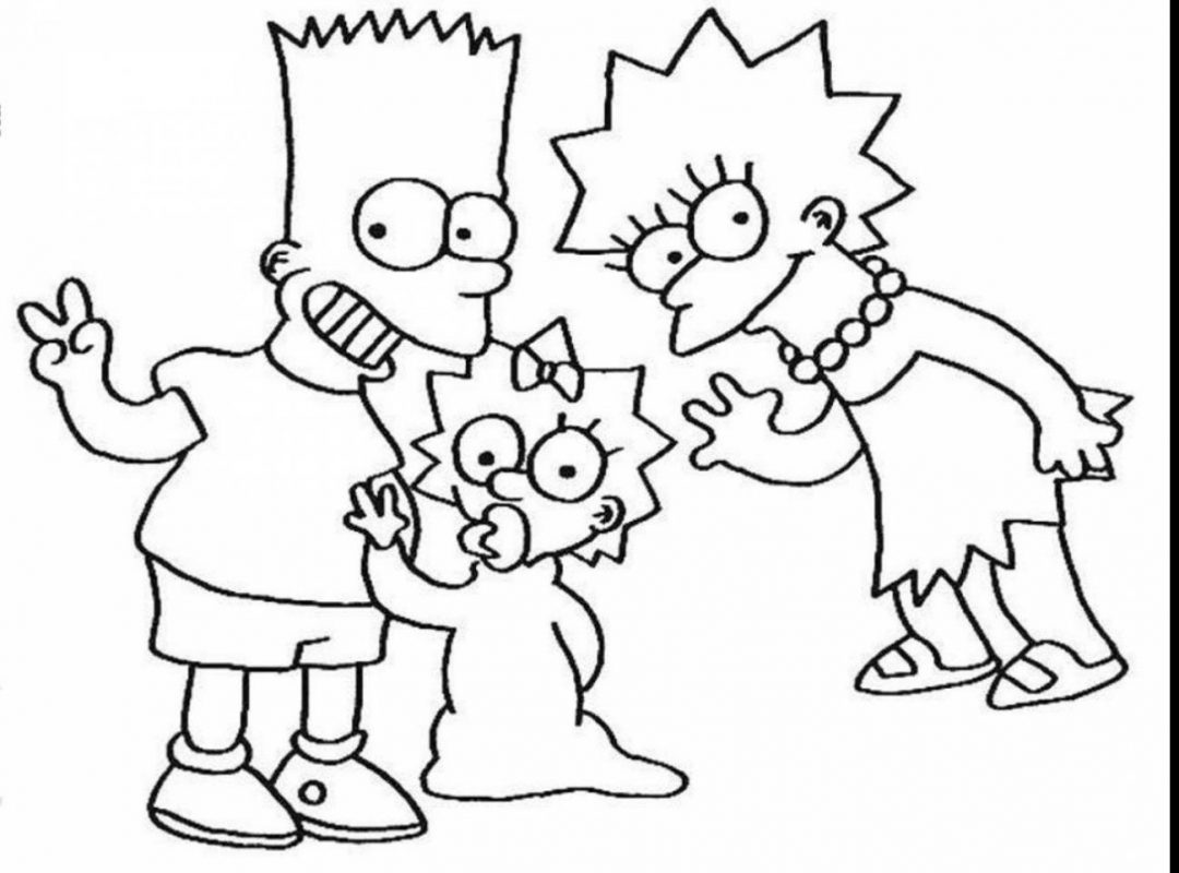 1080x800 Maggie Simpson Coloring Colouring Pages The Simpsons Cartoon