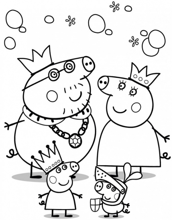 573x730 Peppa Pig Family Coloring Page For Kids Nick Jr Coloring Pages
