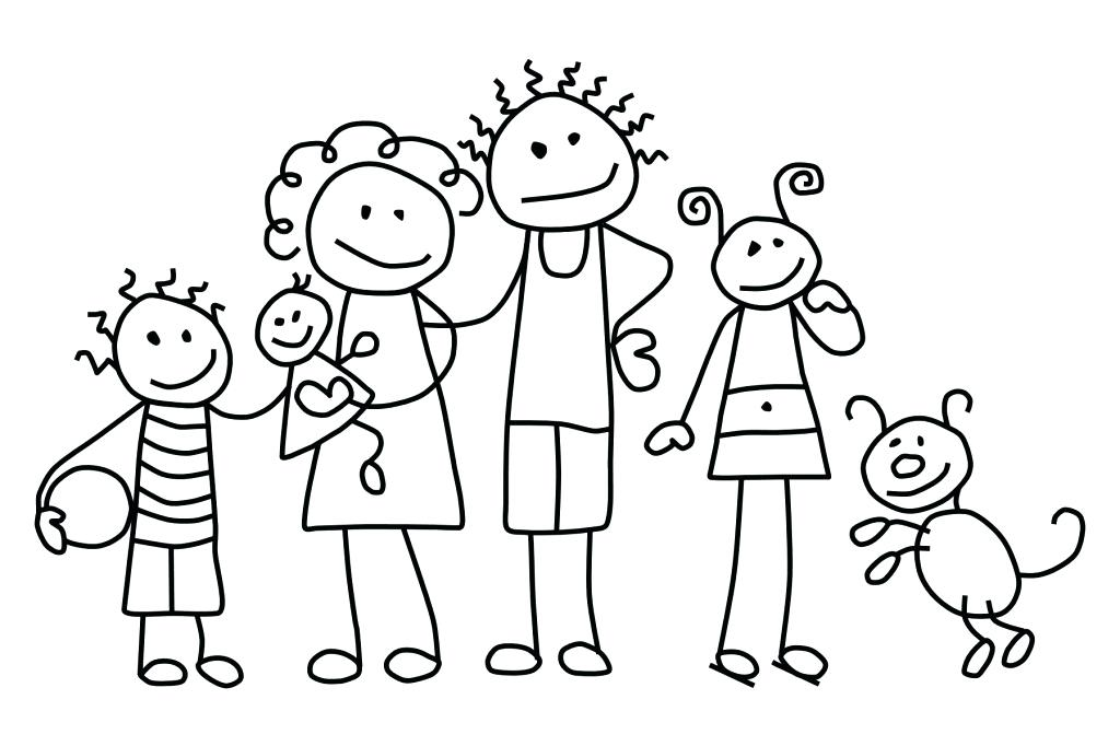 1024x682 The Coloring Pages Download And Print Family Animal Family