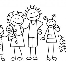 268x268 Family Cartoon Coloring Page Archives