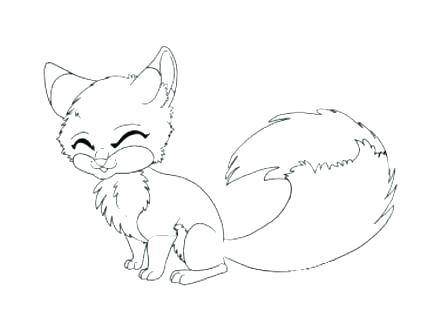 440x330 Fox Pictures To Color As Well As Cartoon Fox Coloring Pages Images