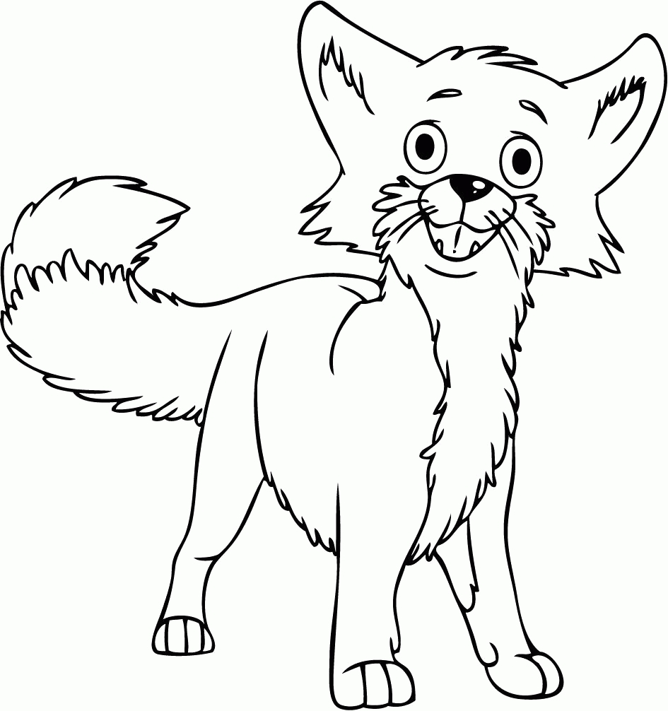 945x1006 Awesome Cartoon Fox Coloring Pages Gallery Printable Coloring Sheet