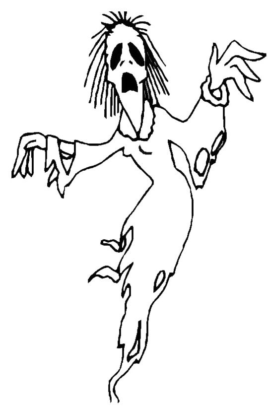 Cartoon Ghost Coloring Pages