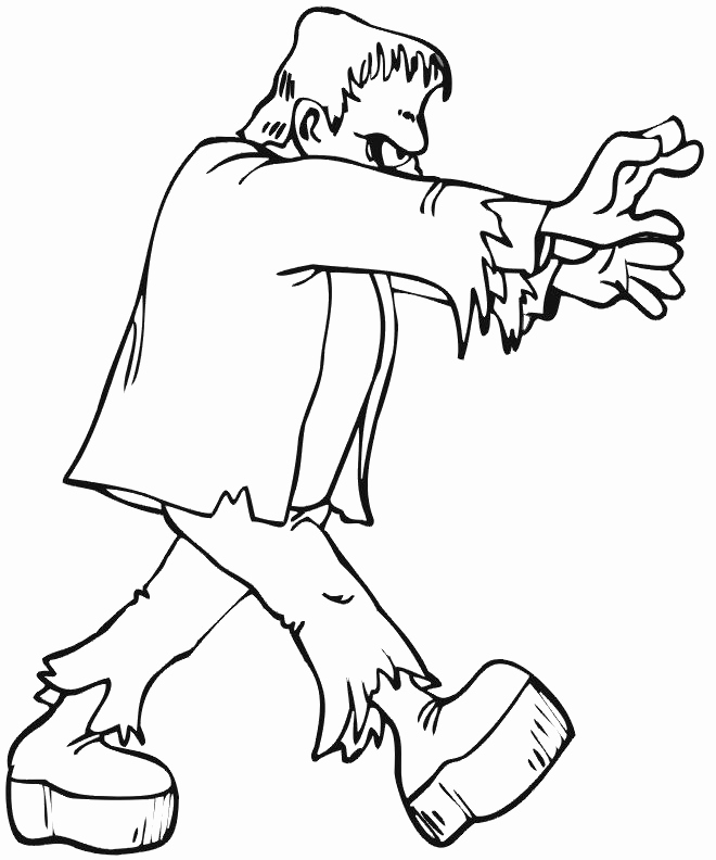 660x792 Frankenstein Coloring Pages Photos Ghost Frankenstein Coloring