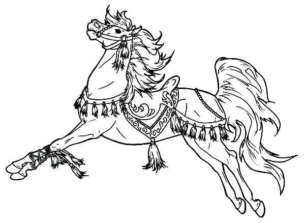 600x438 Cartoon Horse Coloring Pages
