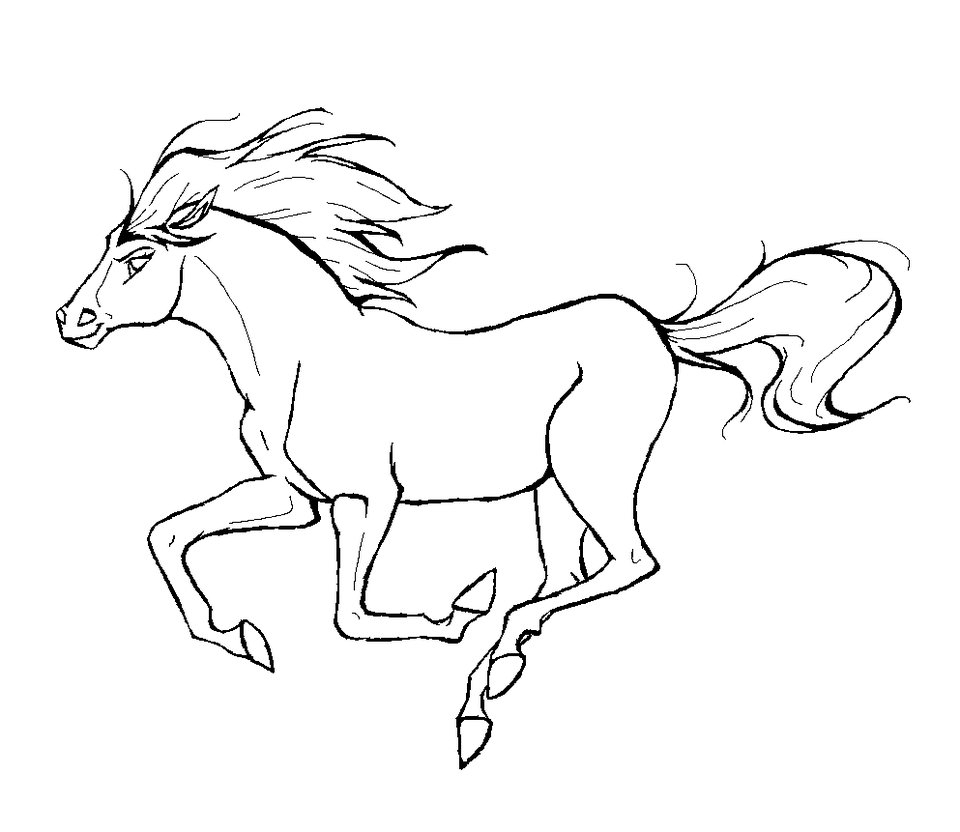 960x832 Cartoon Horse Coloring Page