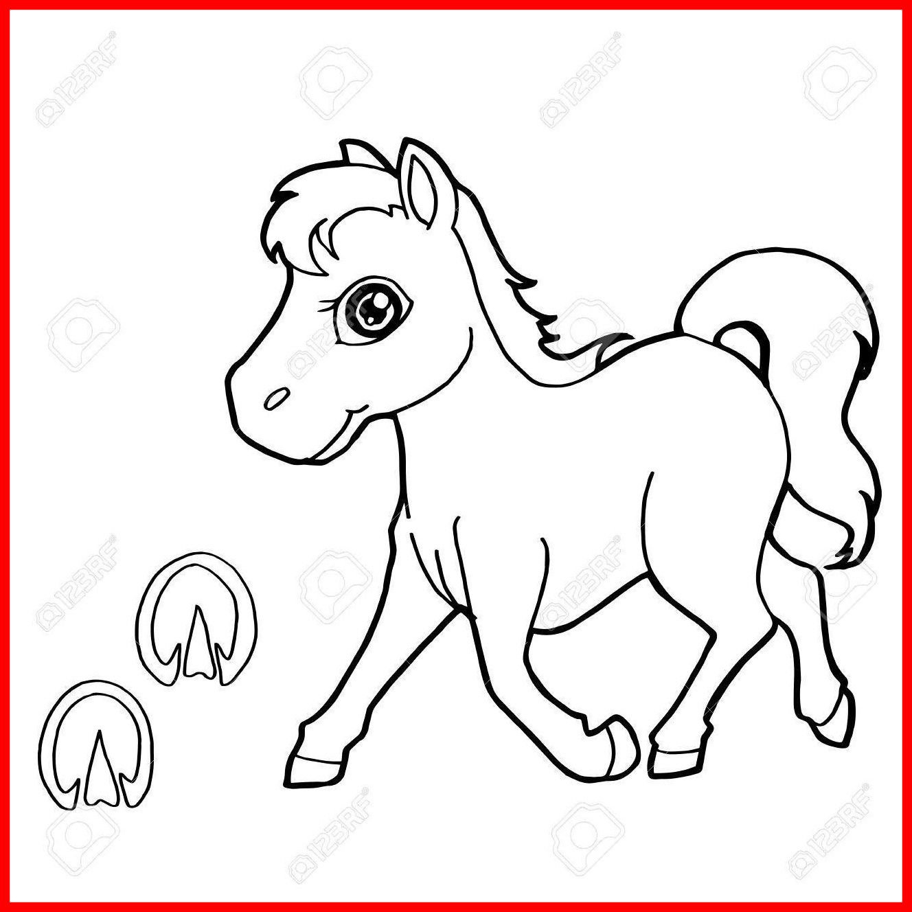 1328x1328 Cartoon Horse Coloring Pages