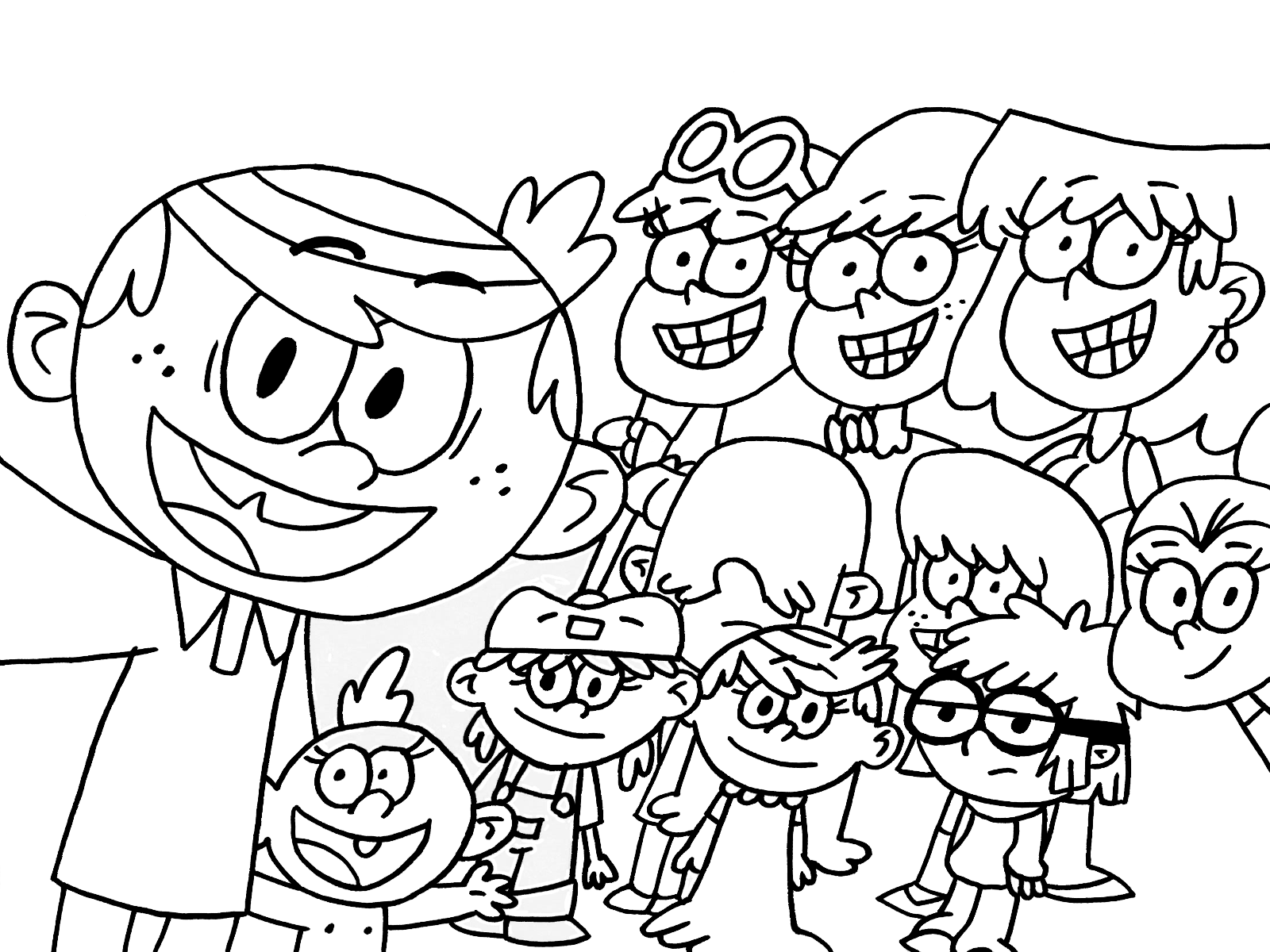 1600x1200 The Loud House Coloring Pages To Download And Print For Free