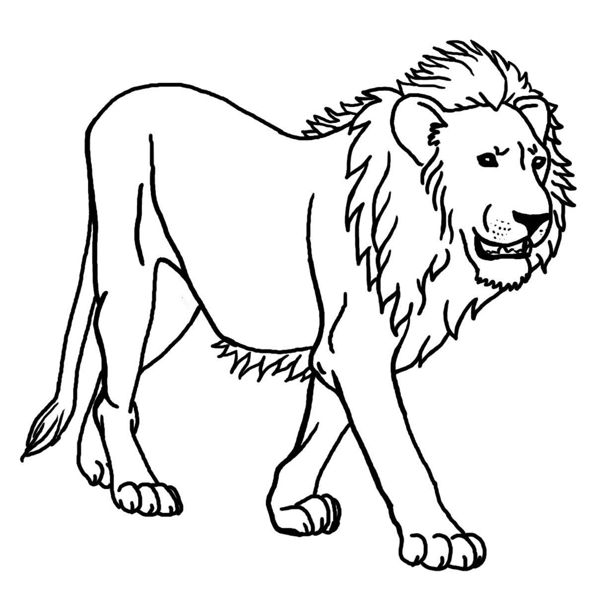 1200x1200 Lion Free To Color For Children